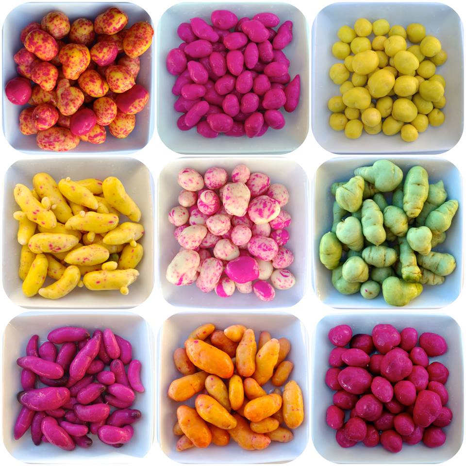 Nine heirloom ulluco varieties