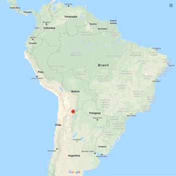 Solanum neorossii distribution map