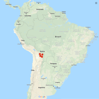 Solanum x doddsii distribution map